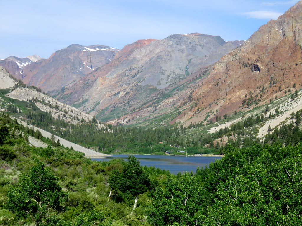 View west from just above Lundy Lake