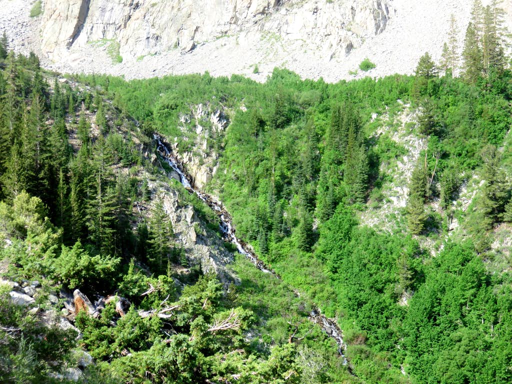 Waterfall in Lake Canyon