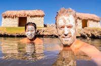 Secret mud baths!