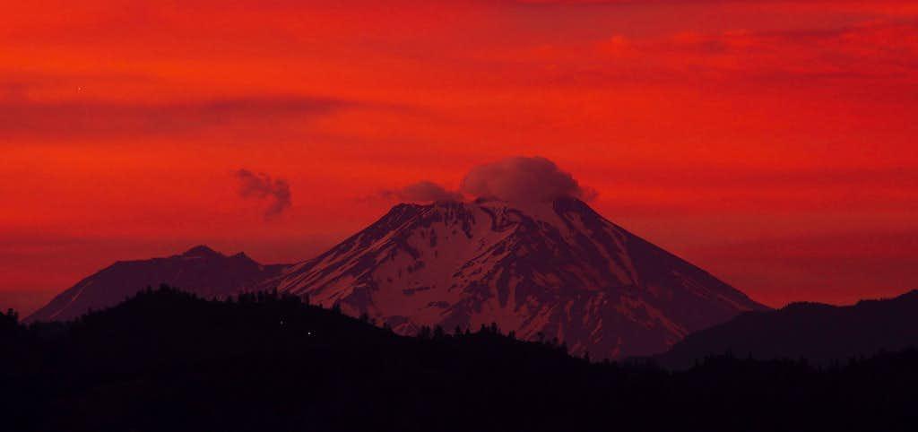 Mt. Shasta sunset from Redding