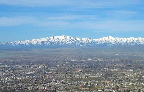The Oquirrh mountain range as...