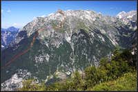 Vrh Krnice standard ascent (line)