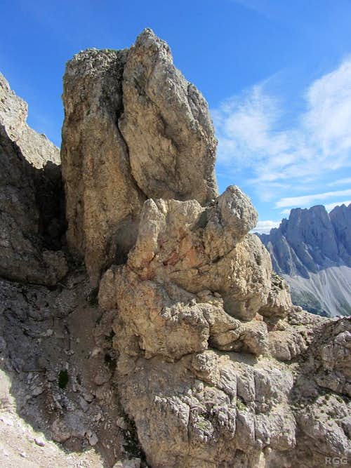 Rock formation on the Aferer Geisler