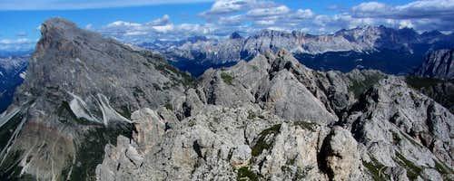 Dolomites panorama from Aferer Geisler