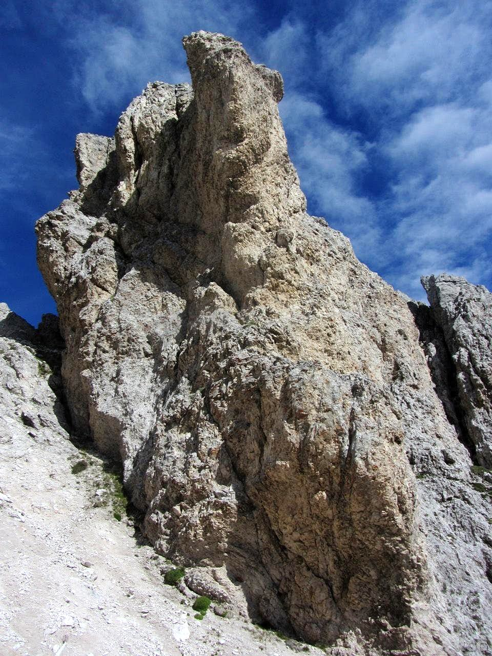 Small rock tower on the Aferer Geisler