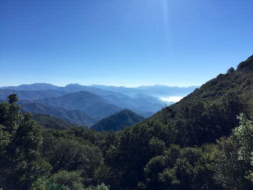 San Gabriel Mountains from Eaton Saddle