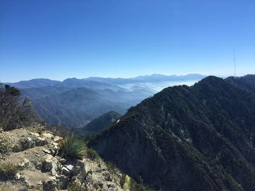 San Gabriel Mountains from Mt. Markham
