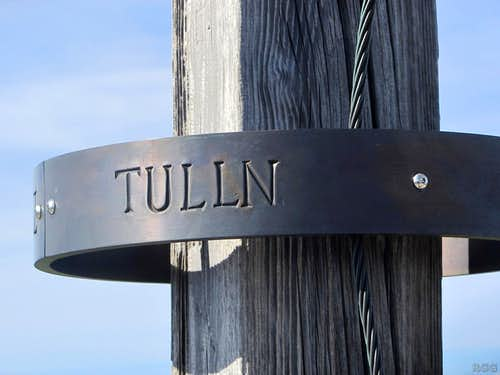 Detail of the Tullen summit cross