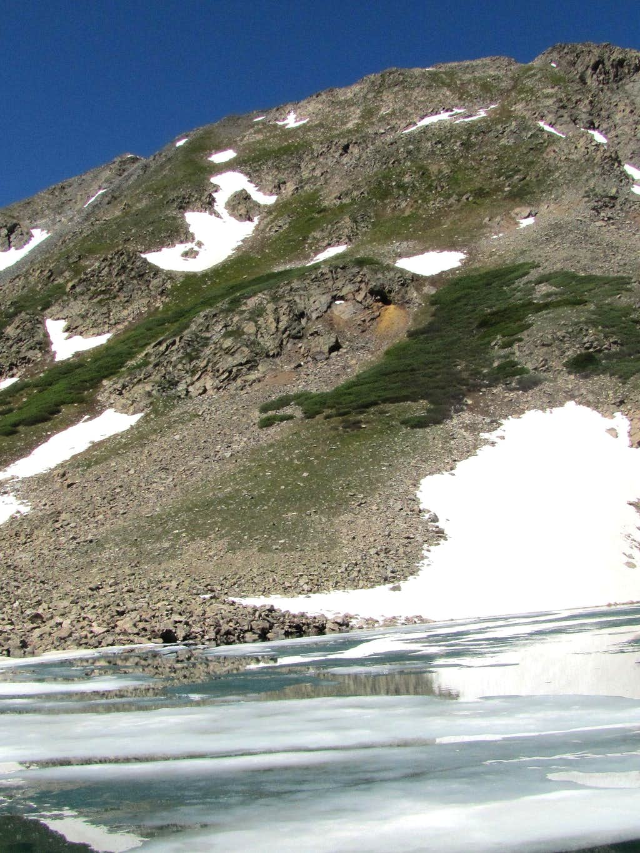 Slopes of Peak 13232 ft from Allan Lake
