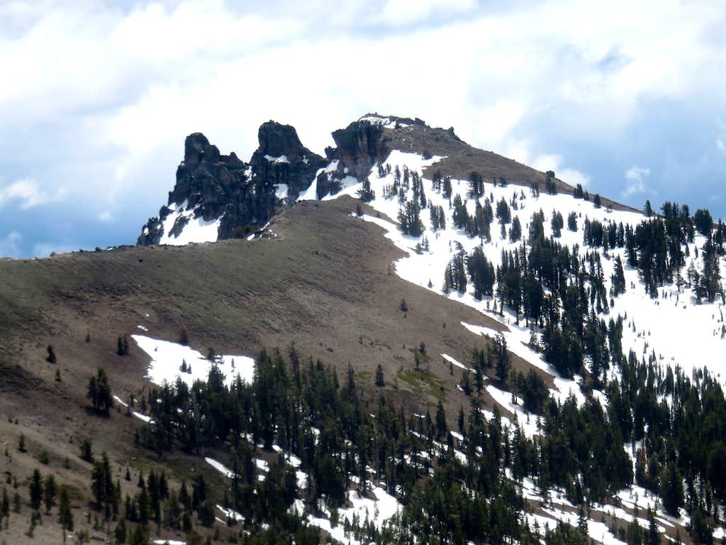Castle Peak summits - true summit furthest left