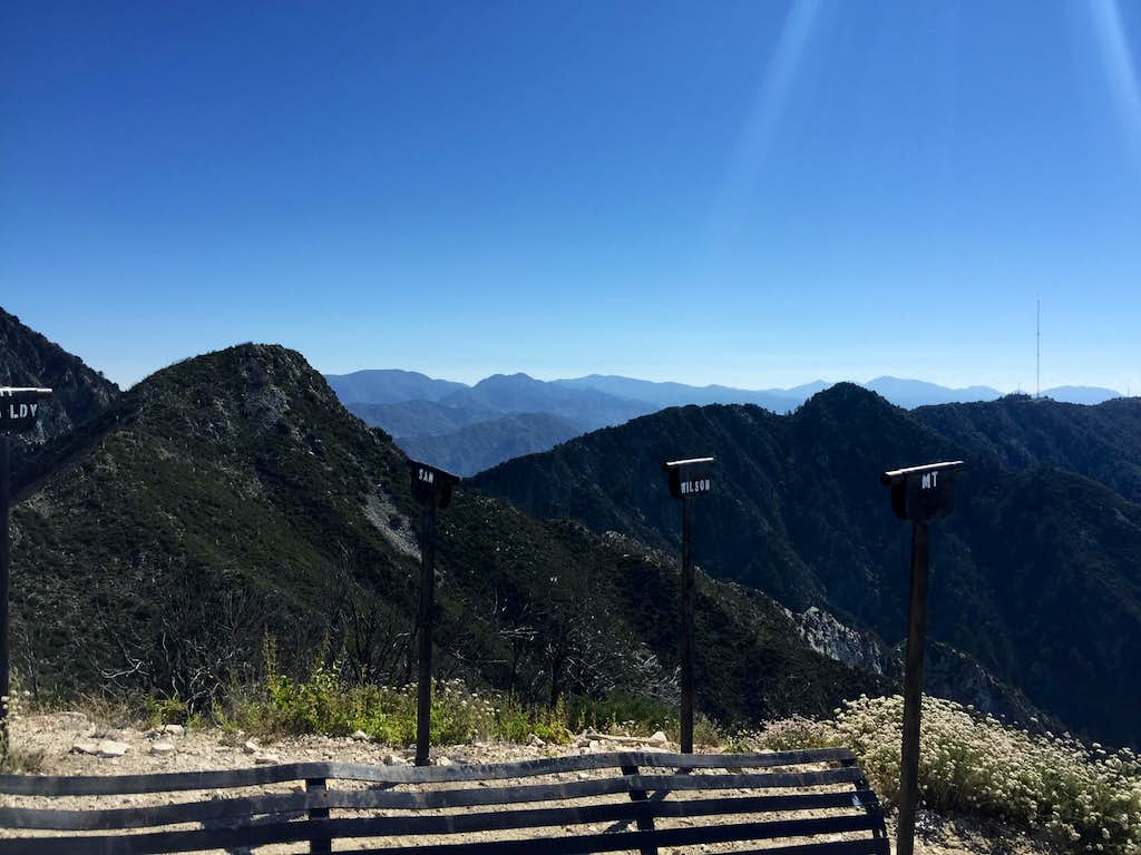 San Gabriel Mountains from Mount Lowe
