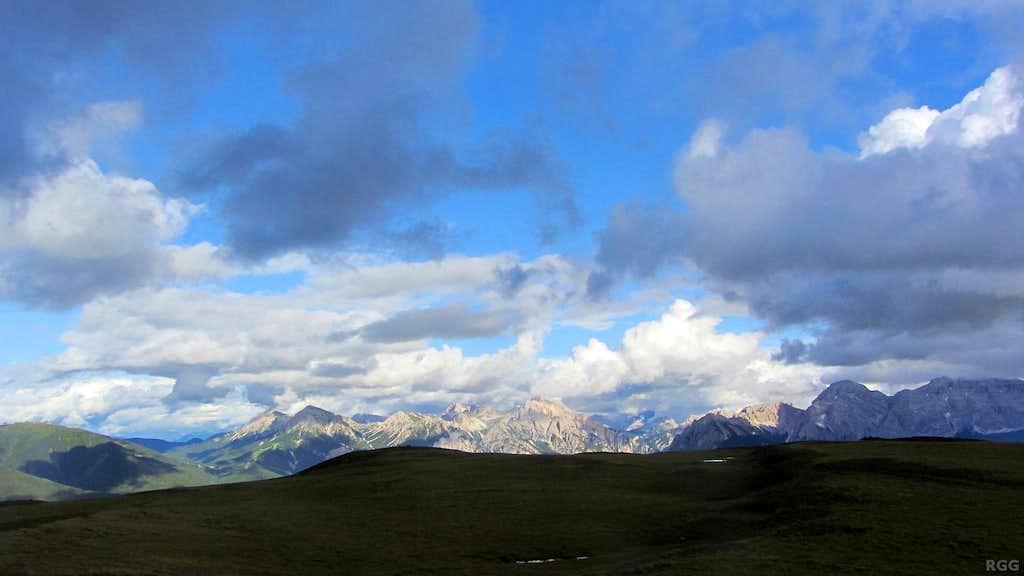 Senes Group panorama from the Glittner Joch