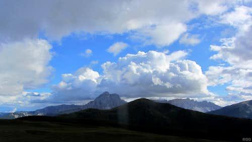 Peitlerkofel (2876m) from the Glittner Joch
