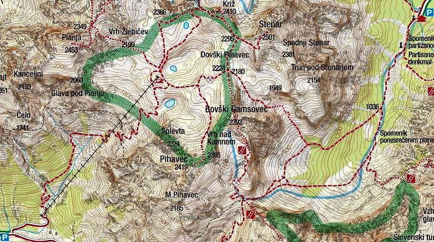 Bovski Gamsovec map