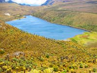 The Otun Lake, near nevado Santa Isabel