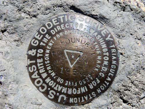 Boundary Peak geological survey marker