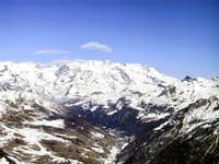 Monte Rosa group from...