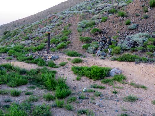 Boundary trail head