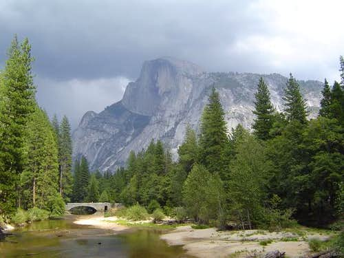 Half Dome as a storm rolls...