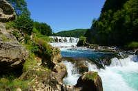 Una´s river stunning waterfalls
