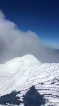 Cotopaxi summit and crater with emission