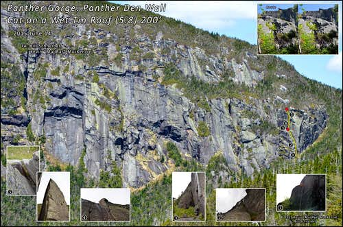 Panther Gorge-A New Marcy Route (Cat on a Wet Tin Roof) 2015 June 14
