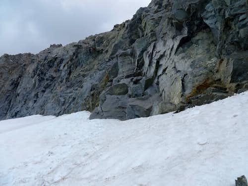 Middle Palisade ledge