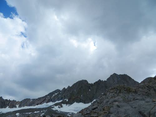 Dark clouds over Middle Palisade