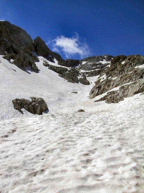 Snow field on the