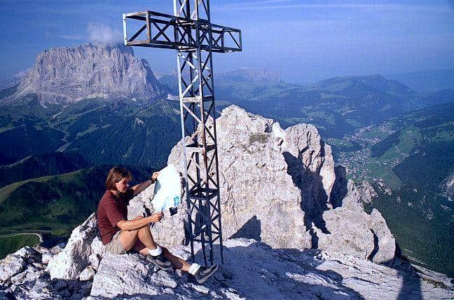 On the summit of Gran Cir /...