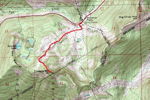 Cowboy Mountain Route Map
