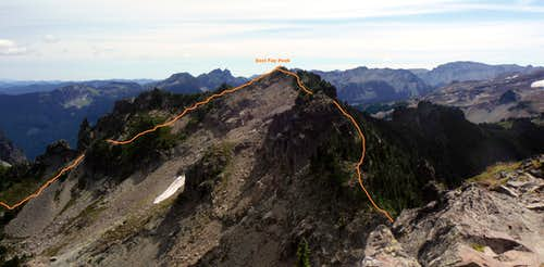The traverse from Fay Peak