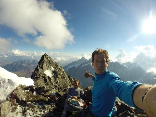 Two climbers write a journal while they attempt the top of Mont Blanc to raise funds for an NPO