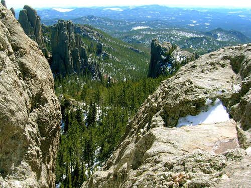Winter View from Little Devils Tower Summit