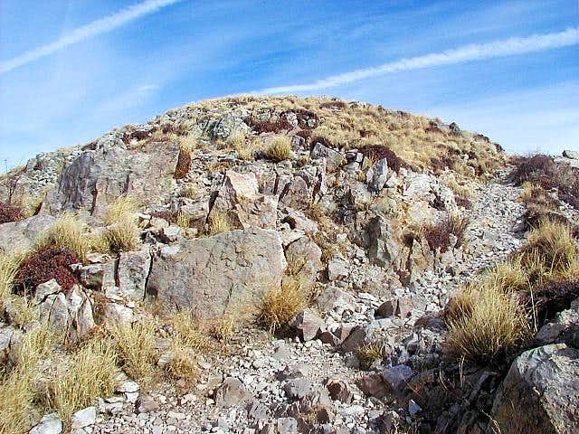 The Mount Wrightson summit....