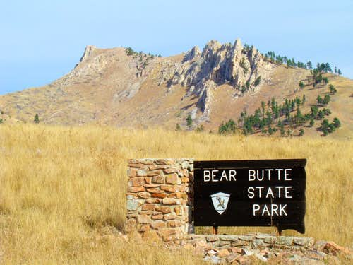 Bear Butte State Park Entrance