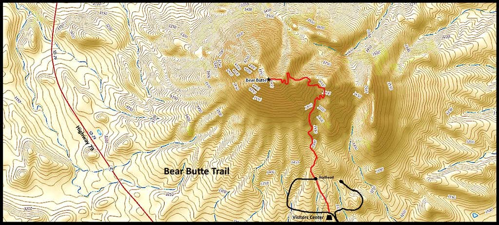 Bear Butte Trail Map