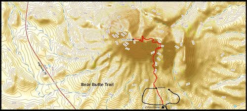 Bear Butte Trail Map