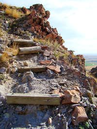 Stairs  on the Bear Butte Trail