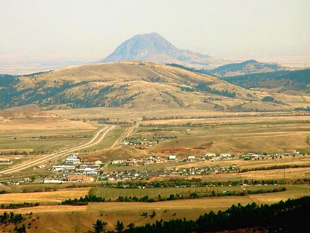 View of Bear Butte from Crow Peak Summit