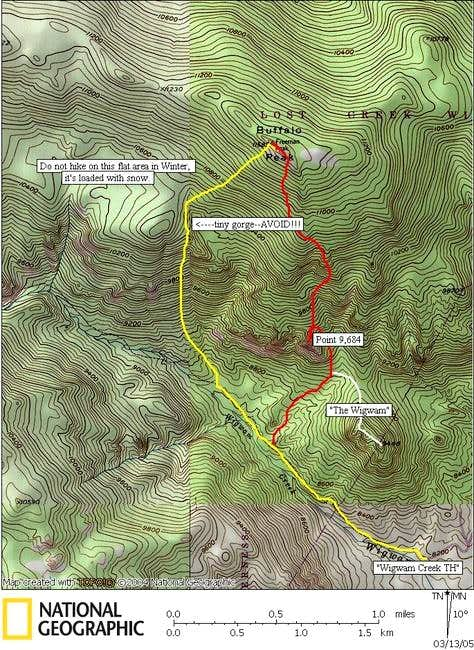 Red-ascent route<br />