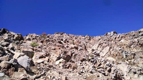 Dicks NE Ridge - Above the chute