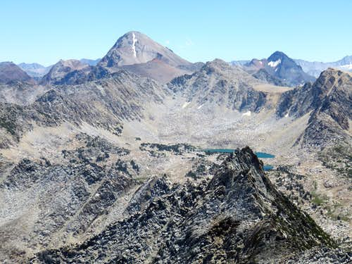 North side of Red Slate Mountain 13,123' from Duck Lake Peak 12,077'