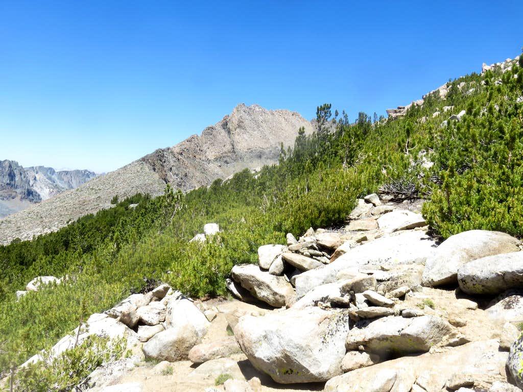 Herlihy Peak south face from the ridge between it and Duck Lake Peak
