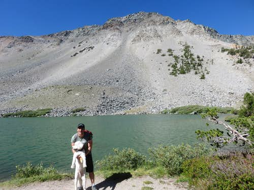 At Barney Lake with part of Mammoth Crest behind