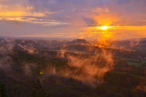 Amazing sunset on Papststein