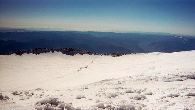 Photo of Rainier crater from...