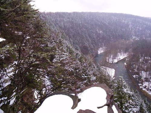Looking down over Penns Creek...