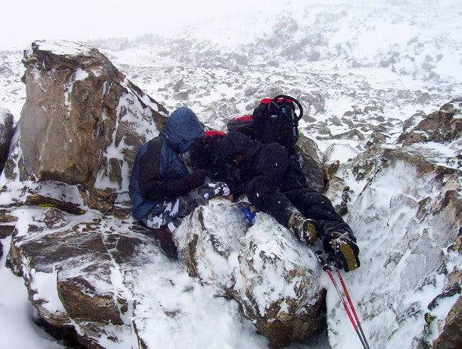Freezing to death on near...