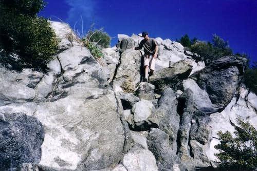 Descending the West Ridge....